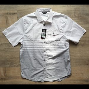 Large men's Under Armour short sleeve button up